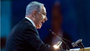 Benjamin Netanyahou s'est exprimé devant les délégués de l'Aipac (American Israel Public Affairs Committee), lundi 2 mars.