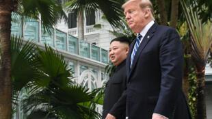 Donald Trump et Kim Jong-un à Hanoï, le 28 février 2019.