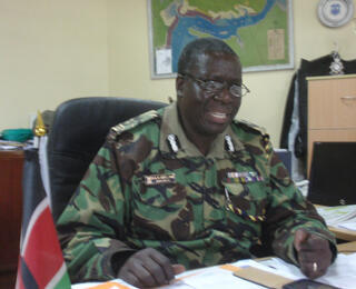 Regional police chief Aggrey Adoli. (Photo: L. Jacinto)
