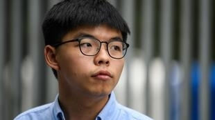 "Jailed Hong Kong dissident Joshua Wong pleaded guilty taking part in an ""unlawful"" Tiananmen Square protest last year"