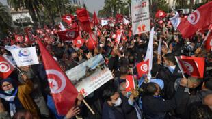 Tunisie-manifs-Nahda