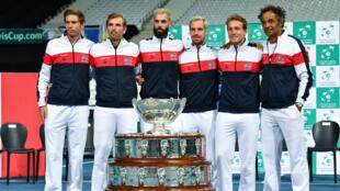 L'équipe de France de Tennis, le 13 septembre 2018 à Villeneuve-d'Ascq.