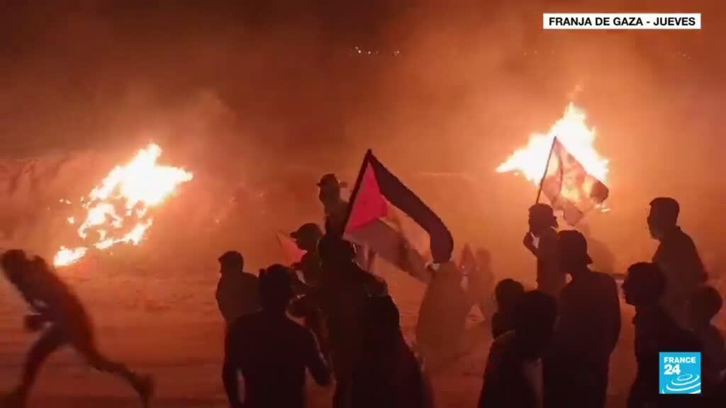2021-09-03 13:07 La frontera entre Israel y la franja de Gaza volvió a arder por sexta noche consecutiva