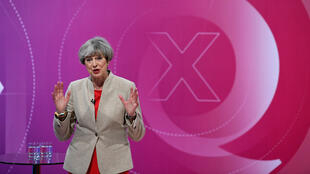 La Première ministre britannique Theresa May lors d'une émission politique à York, le 2 juin 2017.
