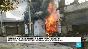 2020-02-26 10:34 India citizenship law protests: 20 dead in Delhi's worst religious violences in decades
