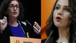 Marta Rovira (ERC), à gauche, et Inés Arrimadas (Ciudadanos) pourraient devenir présidente de la Generalitad.