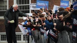 Bernie Sanders, candidat démocrate à la présidentielle américaine, au Brooklyn College, le 2 mars 2019.