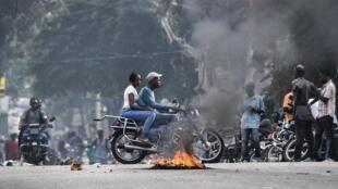 Manifestation à Port-au-Prince le 25 septembre 2019.
