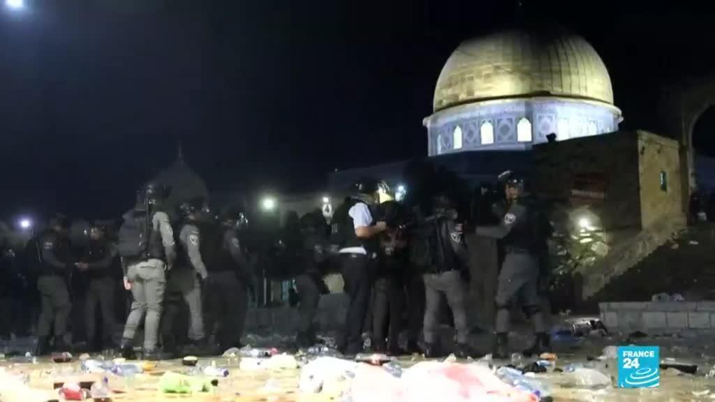 2021-05-08 14:34 Más de 200 heridos durante enfrentamientos entre palestinos e israelíes en Jerusalén