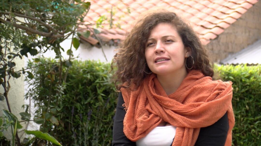 Estefanía Gómez, integrante del colectivo LaDespensa.