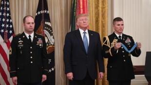 Donald Trump, lors d'une cérémonie d'hommage le 30octobre2019 à la Maison Blanche, à Washington.