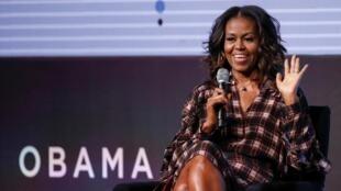 Michelle Obama le 1er novembre 2017 à Chicago.