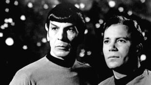 Leonard Nimoy was known around the world as the human-alien Mr. Spock (pictured left)