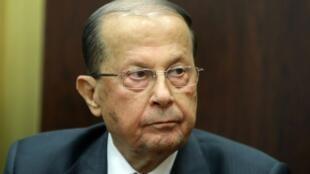 زعيم التيار الوطني الحر والمرشح لرئاسة الجمهورية اللبنانية ميشال عون