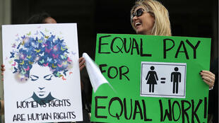 Manifestación a favor de la igualdad salarial en Estados Unidos. Foto de referencia.