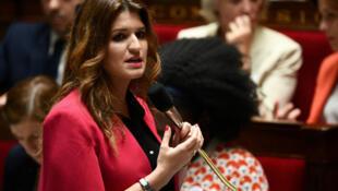 Marlène Schiappa, lors d'une séance de questions au gouvernement, le 9 juillet 2019