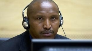 Bosco Ntaganda during his first appearance before ICC judges in The Hague in March 2013.