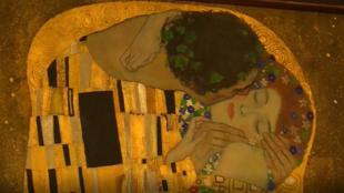 """""""El beso"""" (1907-1908) de Gustav Klimt."""