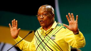 Archivo: Jacob Zuma, en diciembre de 2017