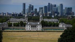 لندن كما بدت من حديقة غرينتش بجنوب شرق العاصمة في02 حزيران/يونيو 2020