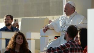 Le pape François lors des JMJ, en Pologne, le 30 juillet 2016.