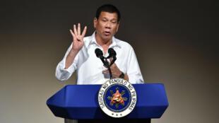 Rodrigo Duterte au Japon, le 26 octobre 2016.