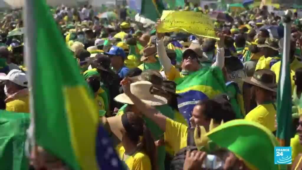 2021-09-07 22:05 Marchas a favor de Jair Bolsonaro en Brasil durante el aniversario de independencia