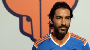 Robert Pires alors qu'il était joueur du FC Goa, en Inde, en octobre 2014.