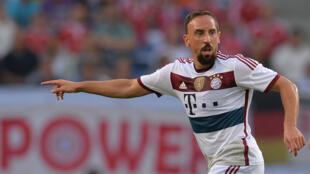 Le footballeur du Bayern Munich Franck Ribéry.
