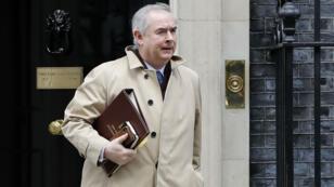 L'attorney général Geoffrey Cox quittant le 10 Downing Street à Londres, le 19 février 2019.