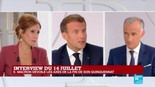 2020-07-14 13:20 REPLAY - Interview du 14 Juillet : Emmanuel Macron dévoile les axes de la fin de son quinquennat