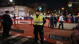 Un policier à Manhattan le soir de l'attentat, mardi 31 octobre 2017.