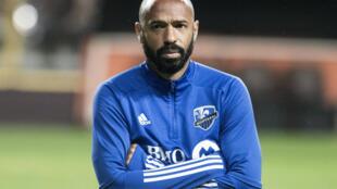 مدرب مونتريال الفرنسي تييري هنري بملعب سان خوسيه في كوستاريكا في 18 شباط/فبراير 2020.