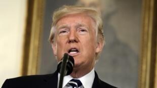 Donald Trump a fait une déclaration depuis la Maison Blanche le 2 octobre, au lendemain de la fusillade de Las Vegas.