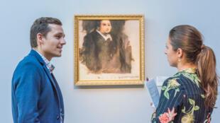 """La maison de ventes aux enchères Christie's estime que le portrait """"Edmond de Belamy"""" vaut entre 7000 et 10000euros."""