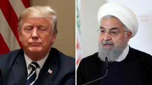 Donald Trump y Hasan Rouhaní.