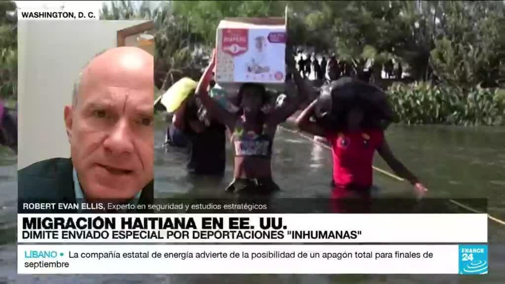 """2021-09-24 03:33 Robert Evan Ellis: """"Crisis migratoria de haitianos en Texas es una dificultad momentánea"""""""