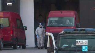 2020-03-26 10:05 Coronavirus - Covid-19 : À Madrid, la patinoire transformée en morgue géante