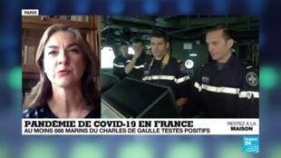 """2020-04-16 17:01 Coronavirus : Le porte-avion Charles-de-Gaulle, """"une ville sur l'eau"""""""