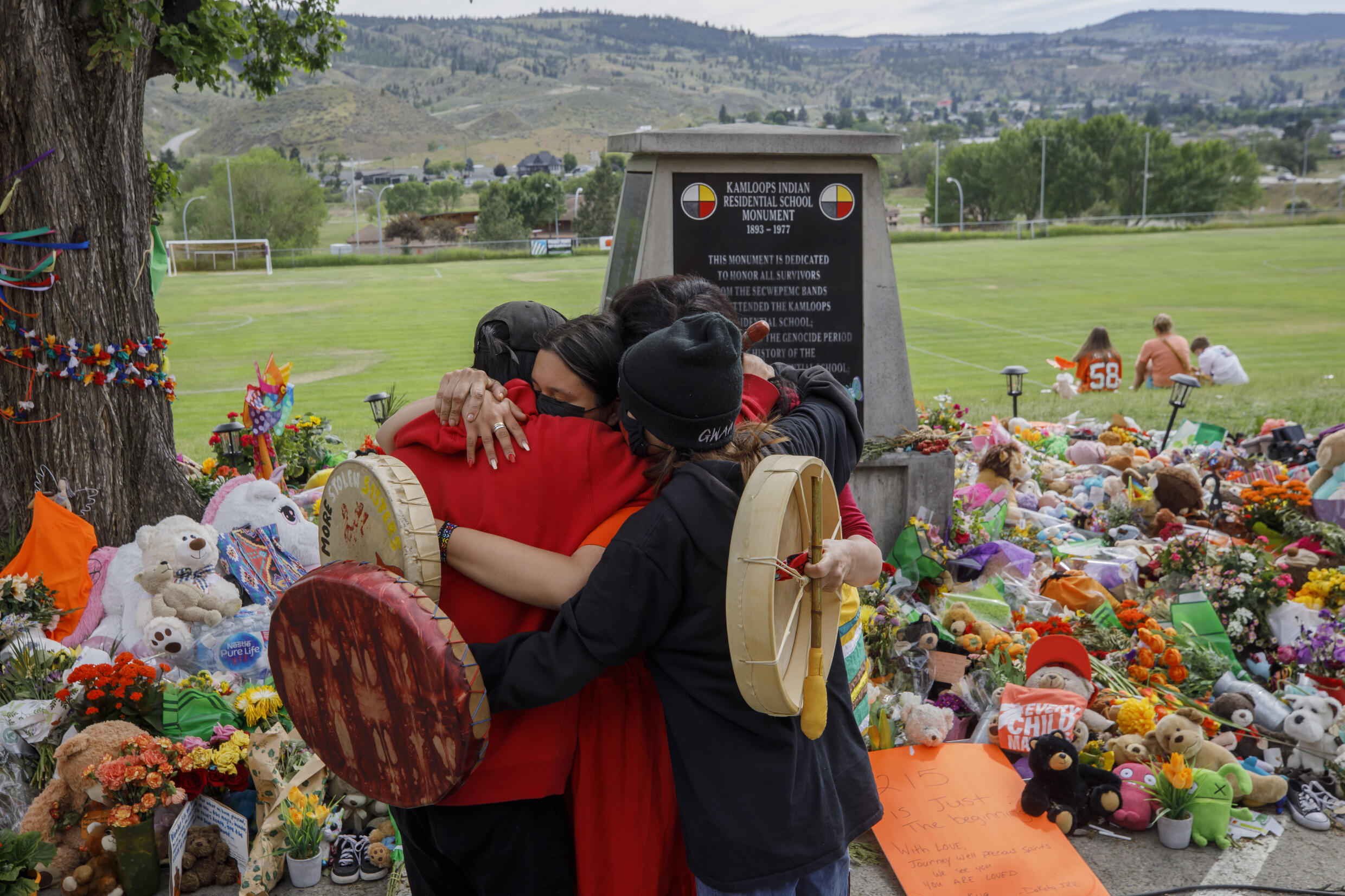 A new discovery of hundreds of unmarked graves near a former school for indigenous in western Canada follows the earlier unearthing of children's remains at another school in Kamloops, British Columbia