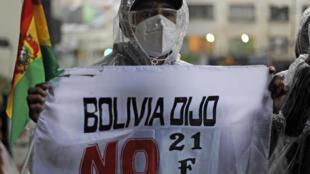 Manifestación en La Paz de opositores al expresidente Evo Morales, el 7 de septiembre de 2020