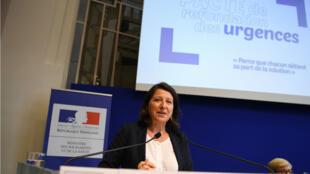 """Agnès Buzyn présente son """"pacte de refondation"""" au ministère de la Santé, à Paris, le 9 septembre."""