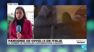 2020-03-26 10:07 Coronavirus en Italie : La hausse des contaminations ralentit