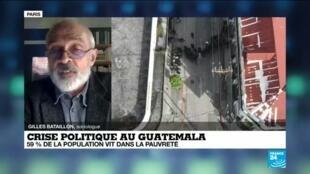 2020-11-22 20:10 Crise politique au Guatemala : manifestation aux abords du parlement