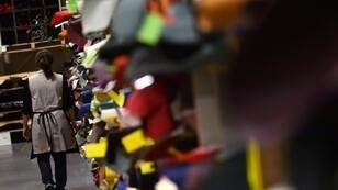 L'atelier de maroquinerie Louis Vuitton de Ducey dans la Manche, où sont notamment stockés des cuirs colorés, photographiés le 12 octobre 2018, ouvre ses portes les 13 et 14 ocotbre