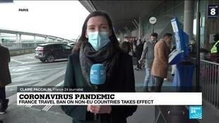 2021-02-01 16:05 Coronavirus pandemic: France travel ban on non-EU countries takes effect