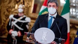 Roberto Fico después de una reunión con el presidente italiano Sergio Mattarella en Roma, Italia, el 29 de enero de 2021.