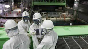 Photo prise à l'intérieur du bâtiment abritant le réacteur numéro 4 de la centrale de Fukushima (archives).