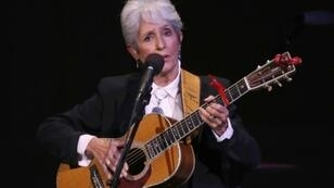 American folk singer Joan Baez's residency at the storied Olympia music hall in Paris ends with sold-out concerts on Saturday and Sunday