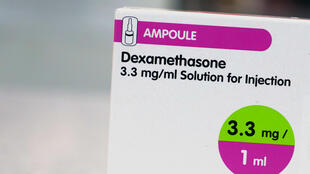 A box of dexamethasone injection ampoules
